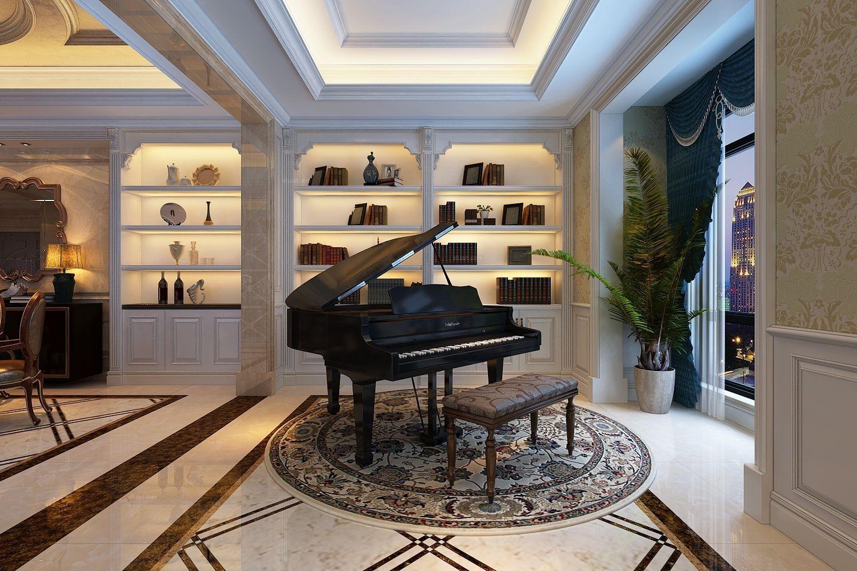 复式楼客厅_益力檀宫美式风格方案0551-65196123装修图片