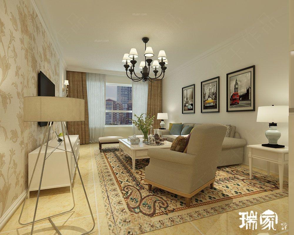 三室两厅现代风格客厅沙发背景墙
