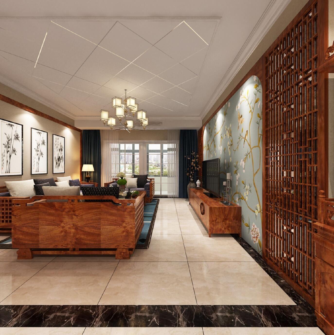 四居室现代风格客厅榻榻米