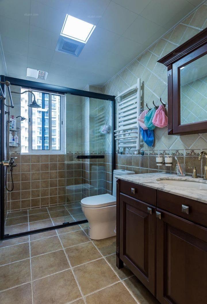 三室两厅美式风格卫生间