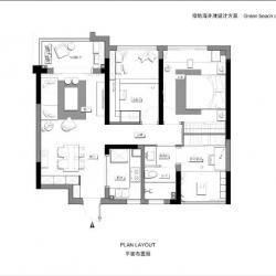 绿地海外滩住宅项目室内方案设计
