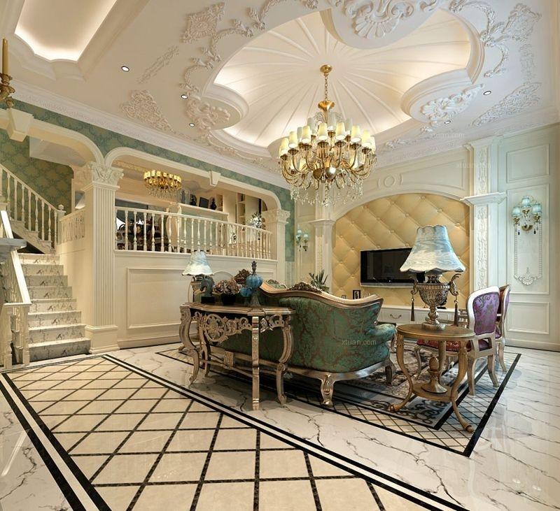 四居室法式风格客厅