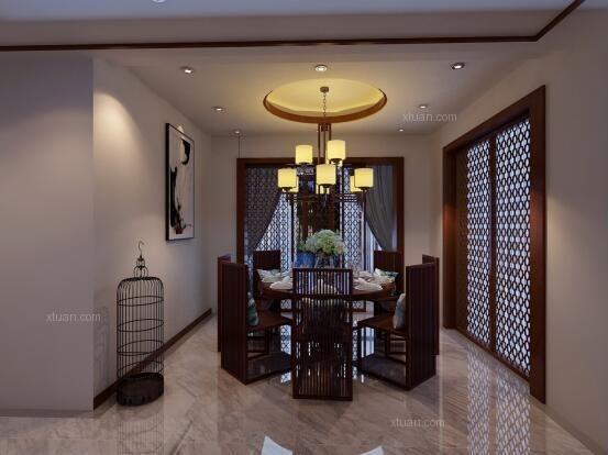 枫林盛景小区180现代新中式风格