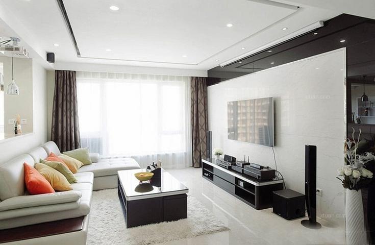 重庆业之峰装饰——招商江湾城120平——现代风格