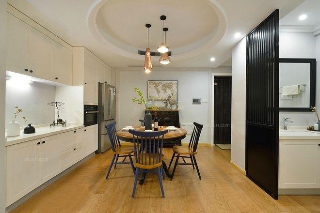 两室一厅美式风格餐厅