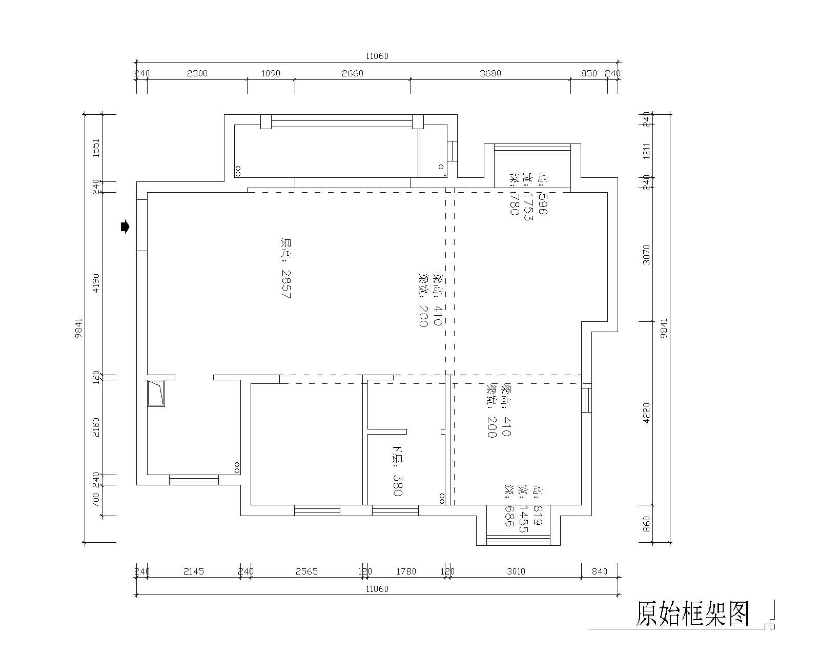 三居室新古典客厅