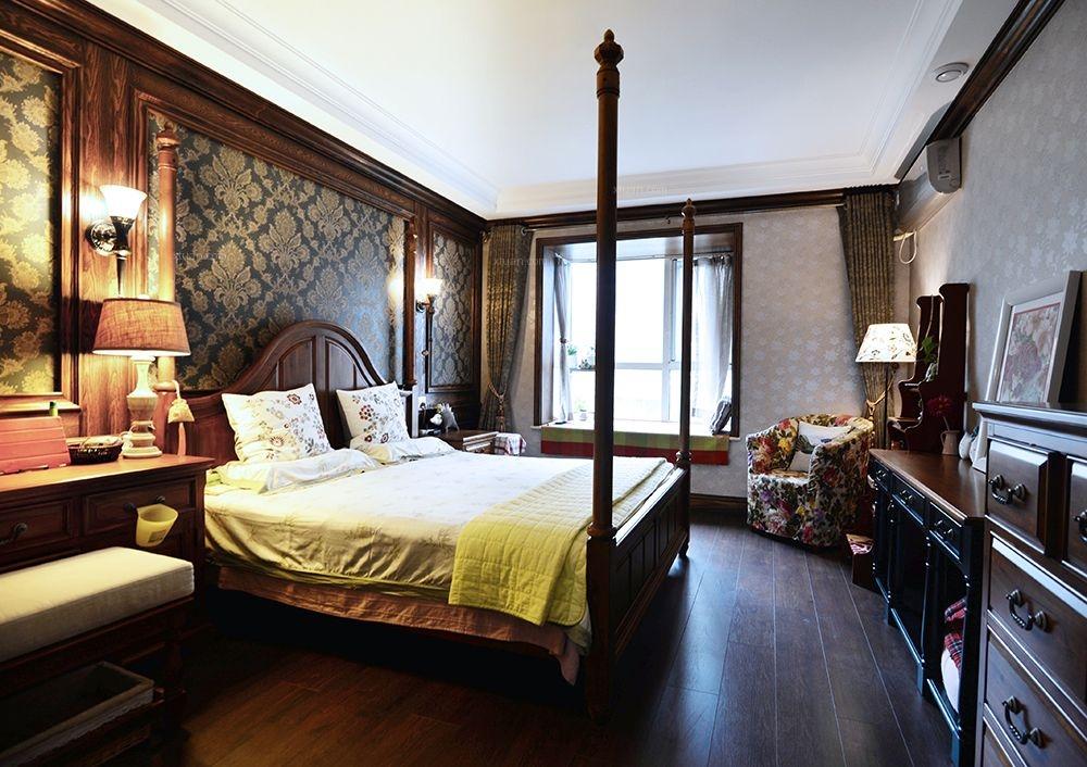 别墅美式风格主卧室图片