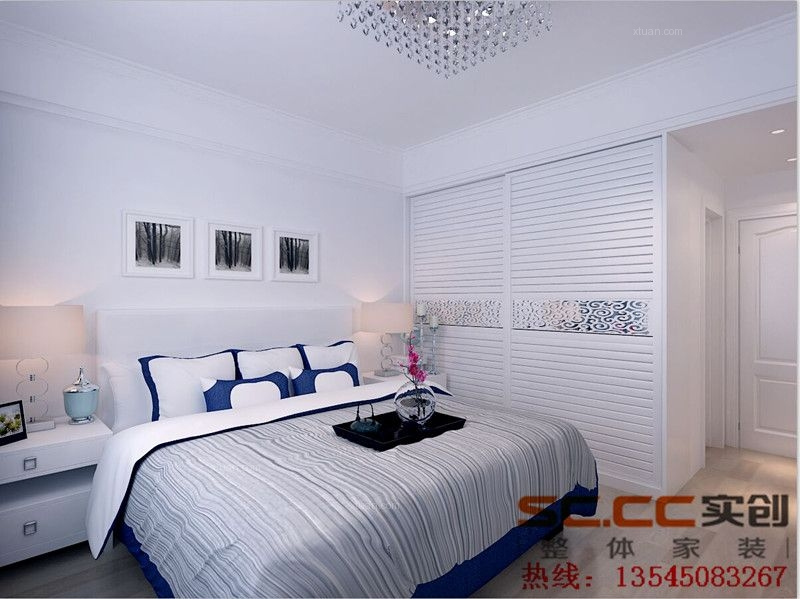 两居室现代简约卧室家庭影院