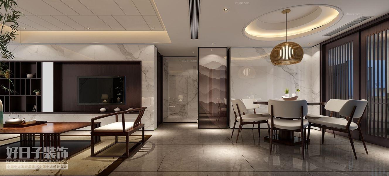 四居室中式风格餐厅软装