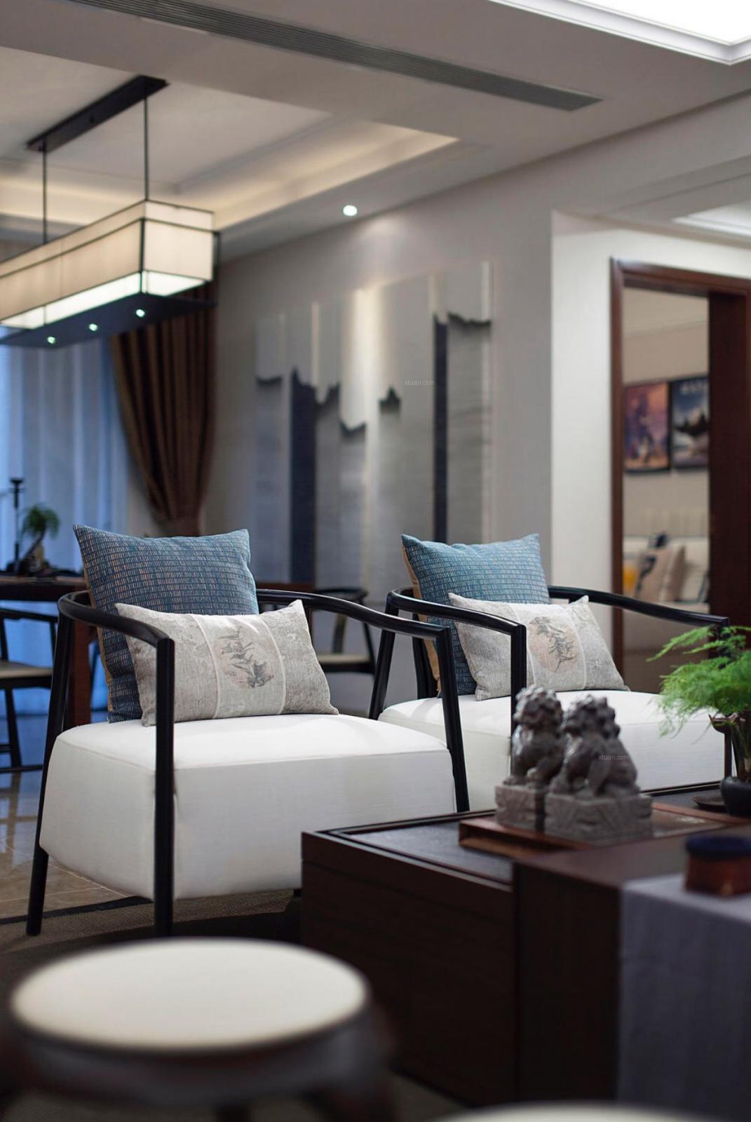 两室两厅中式风格客厅