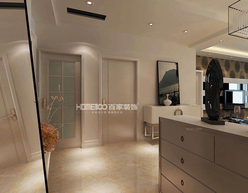 两居室现代简约玄关软装