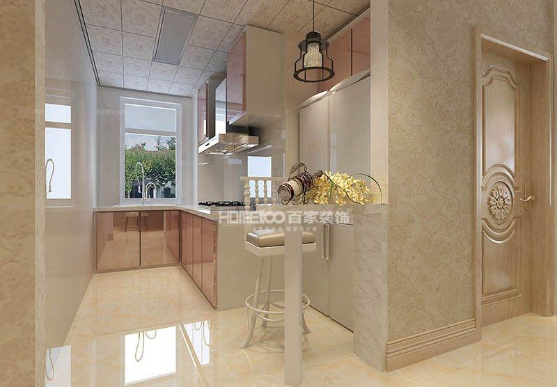 三居室现代简约厨房软装