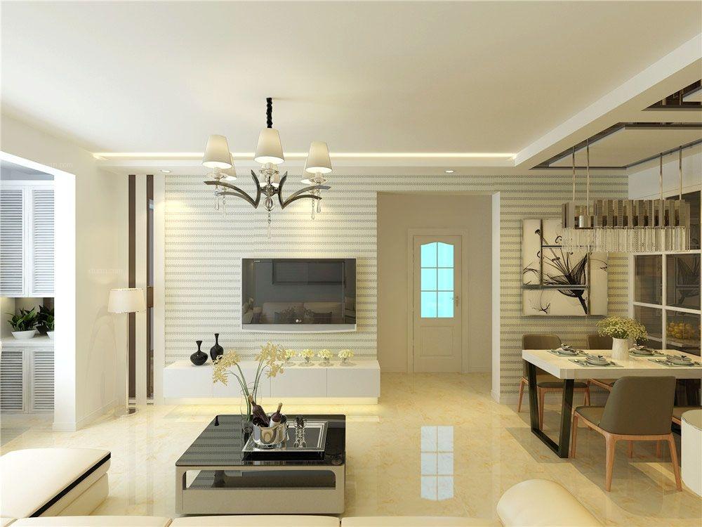 沈阳恒润雅筑85平方米现代简约整装案例效果图