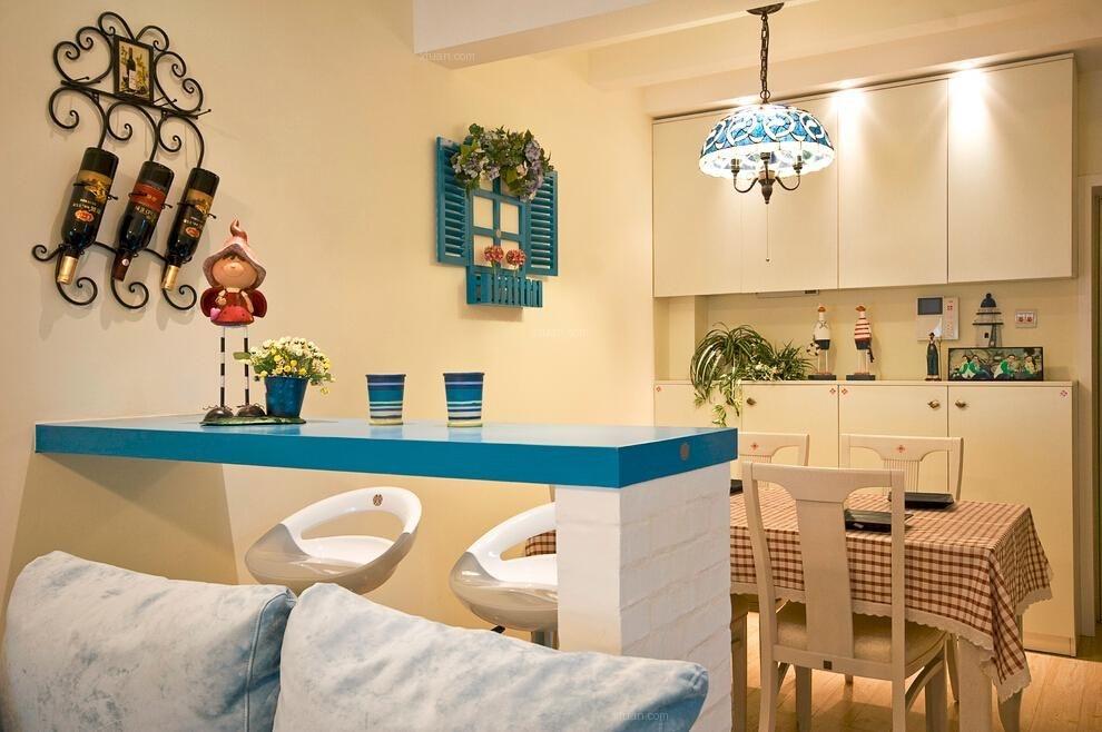 两居室地中海风格休闲区