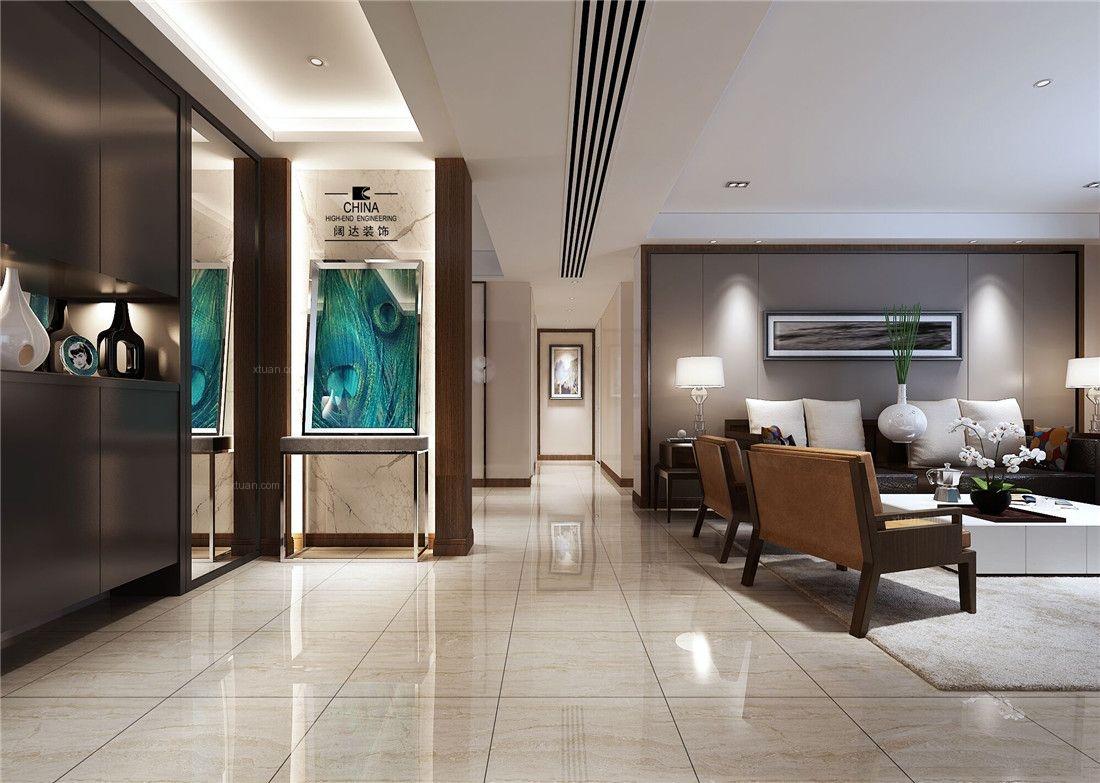 大户型现代简约客厅_常发豪庭国际175平极简装修效果图