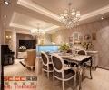 【武汉实创装饰】金地自在城90平三居室简欧风格全包