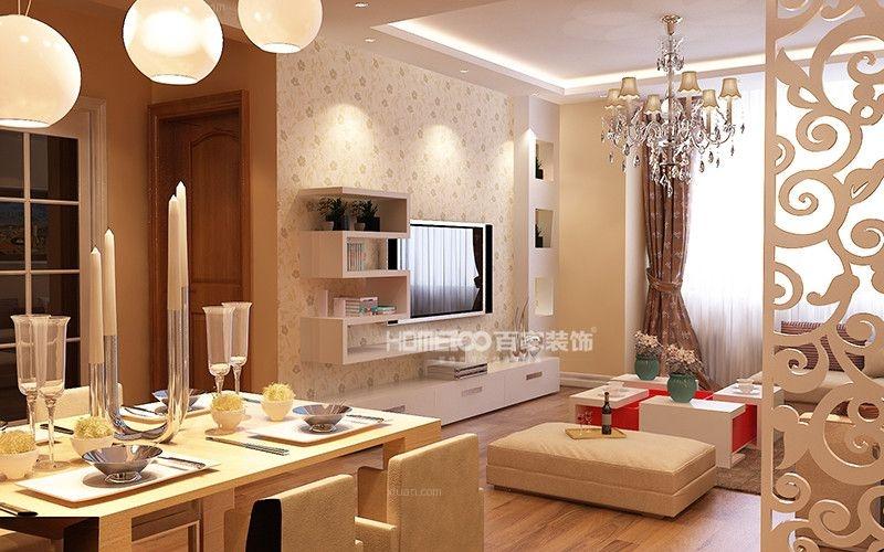 两居室美式风格餐厅软装