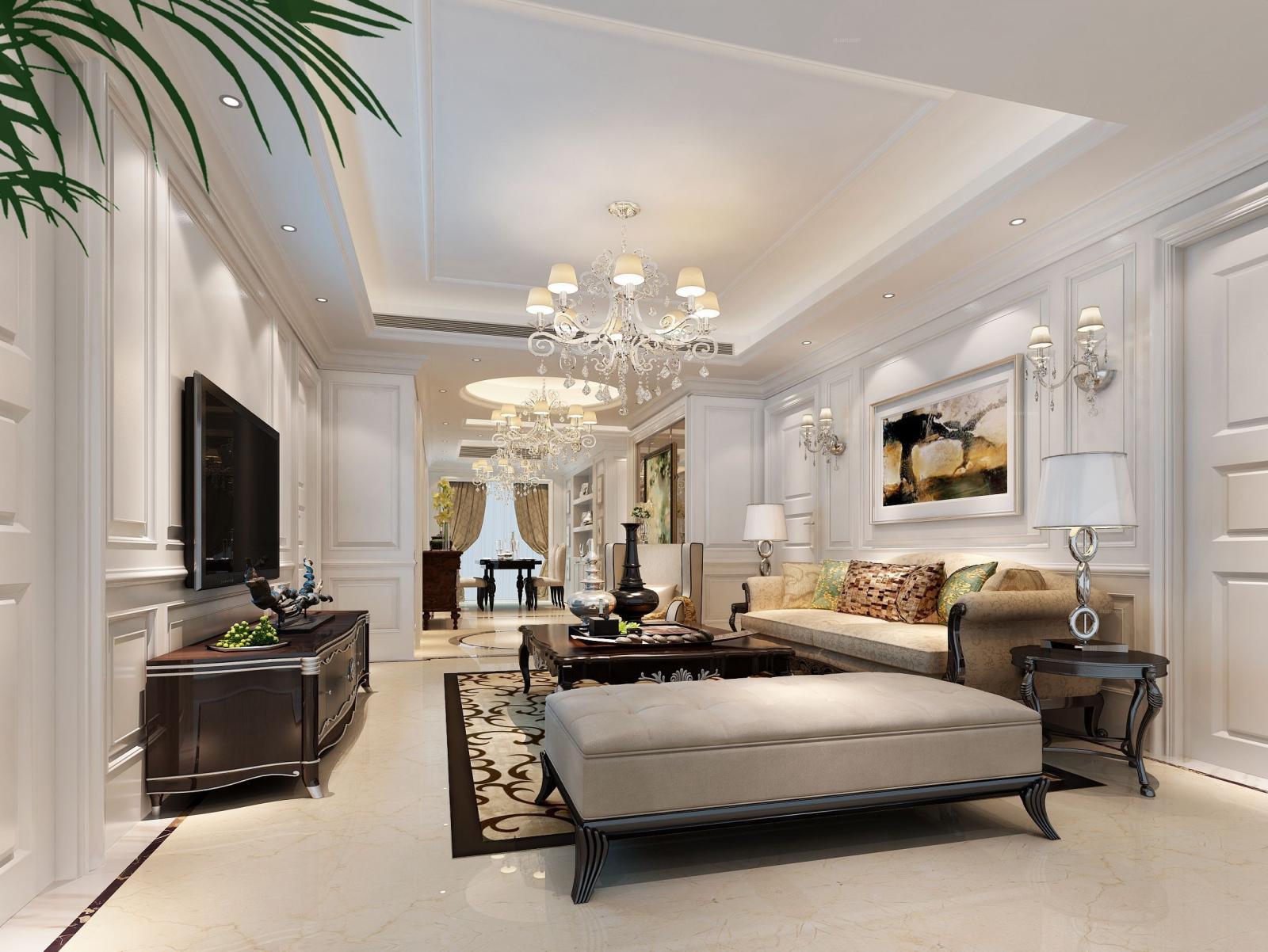 无锡融创熙园160平现代风格装修案例