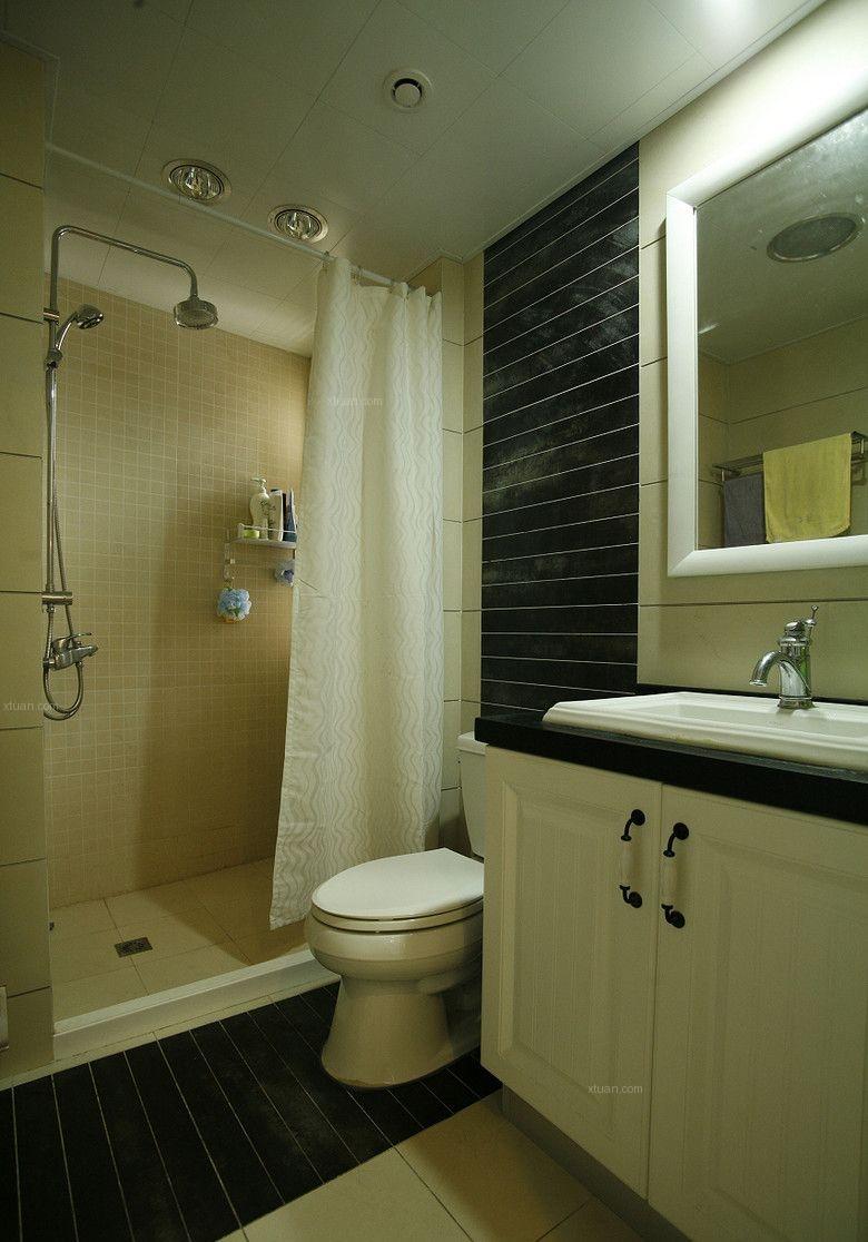 三室两厅混搭风格卫生间