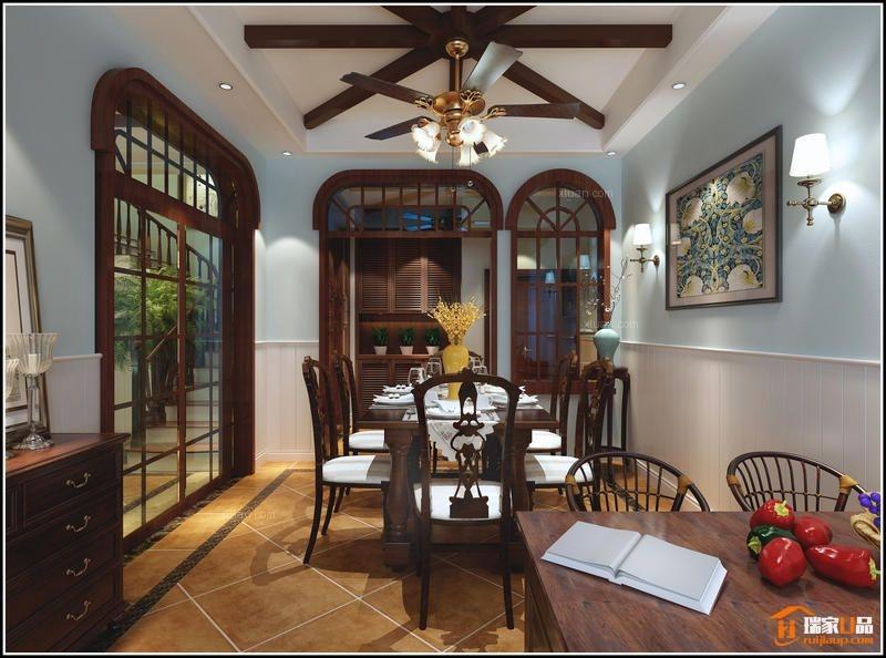 复式楼美式风格餐厅