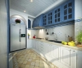 三居室改造,地中海风格
