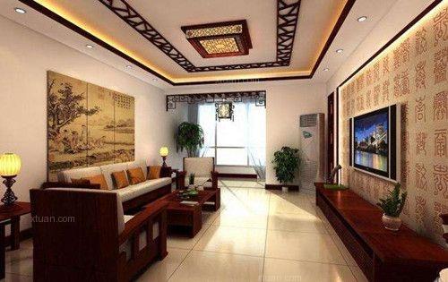 两居室中式风格客厅