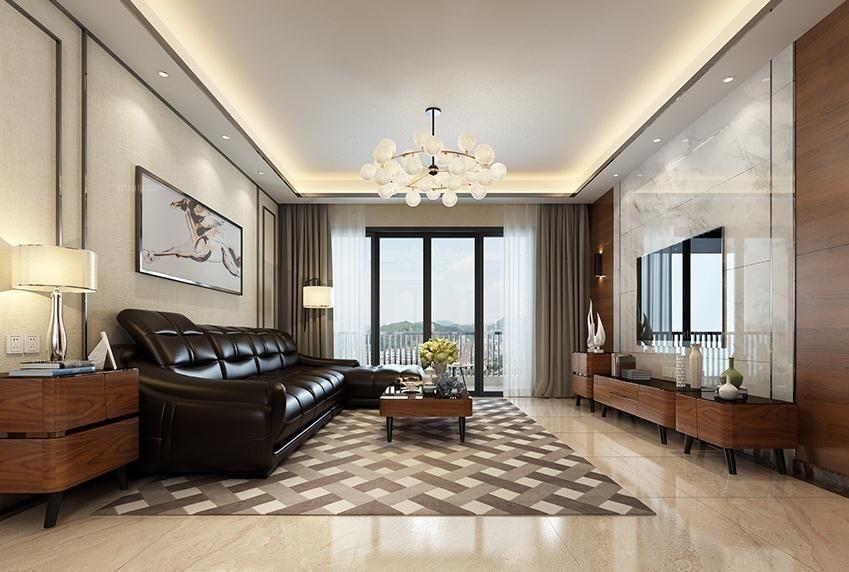 三居室北欧风格客厅