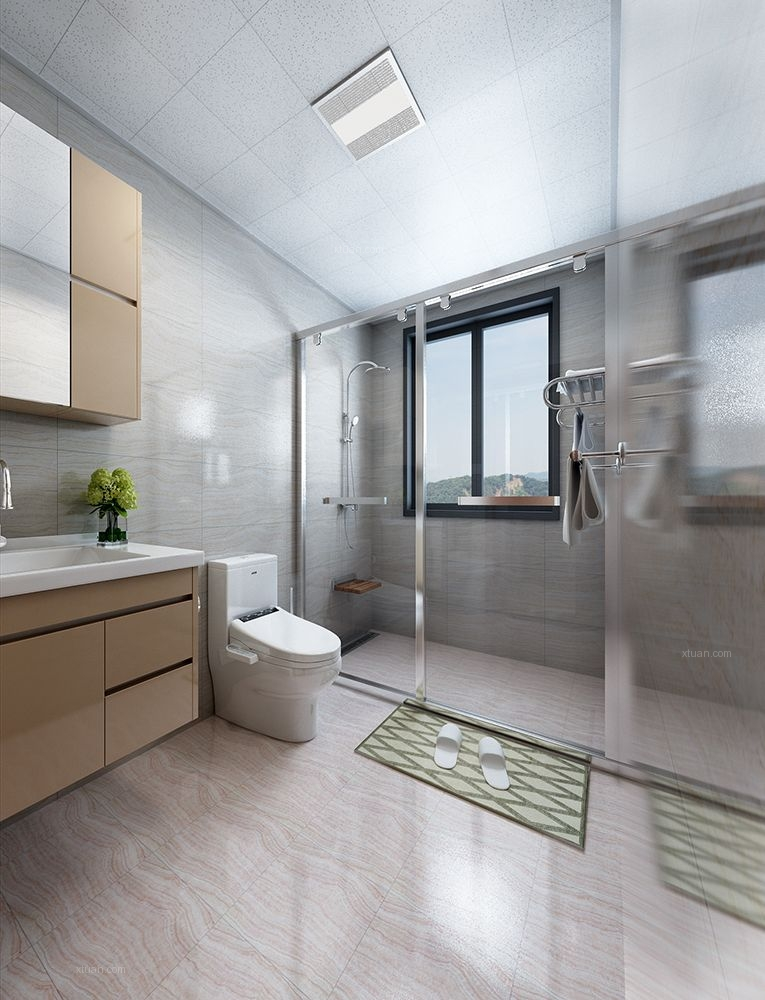 三居室北欧风格卫生间