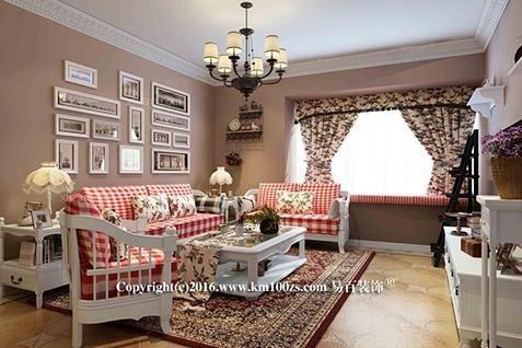 两居室田园风格客厅