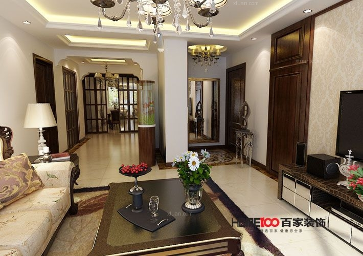 蓝天佳苑155平美式风格