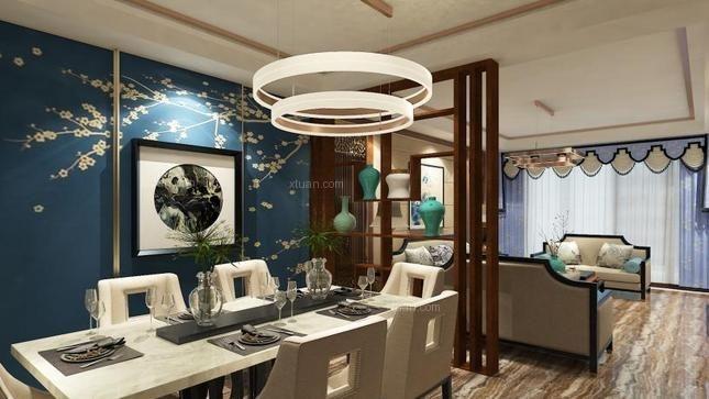 建博国际三居室装修