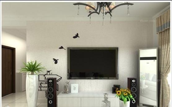 四居室客厅电视背景墙
