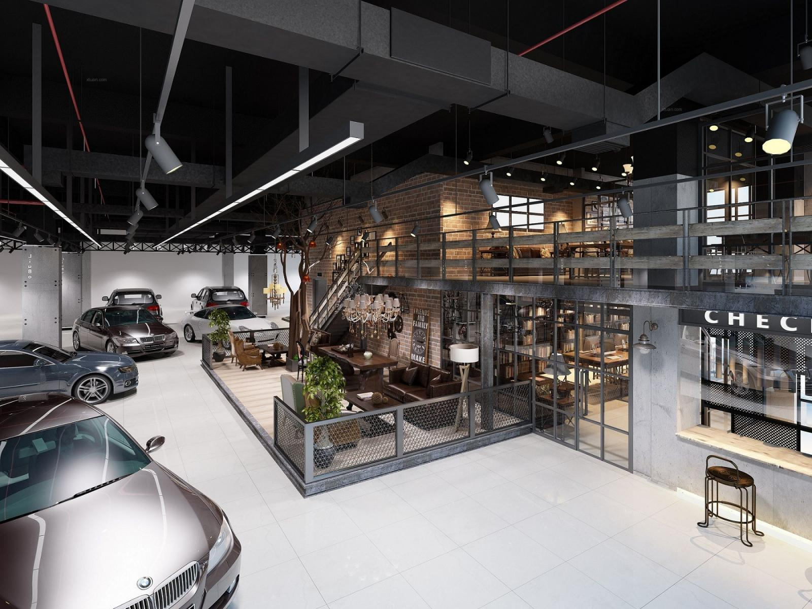 柳博名车展厅装修效果图