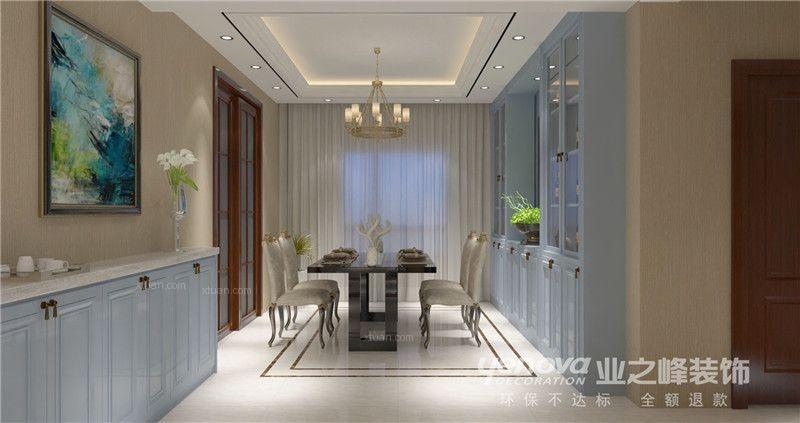 三居室欧式风格餐厅软装