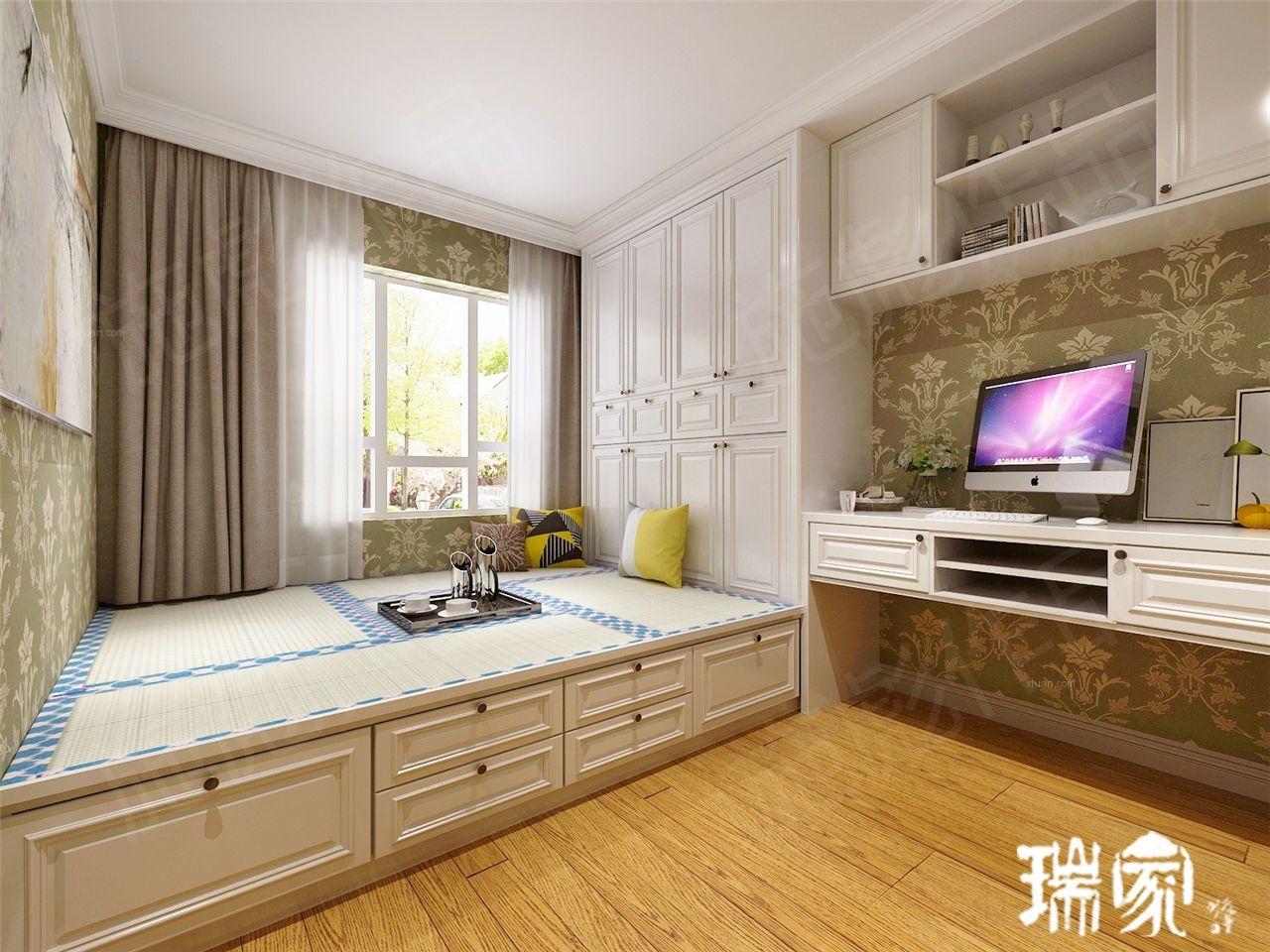 两室两厅简欧风格卧室榻榻米