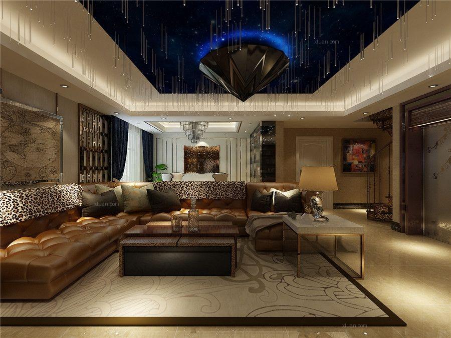 别墅美式风格休闲区