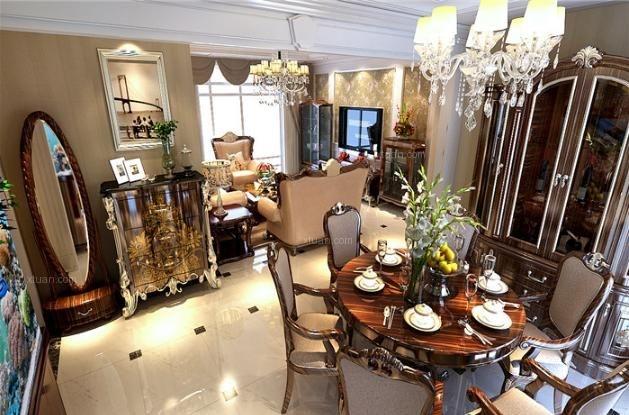 三居室新古典餐厅