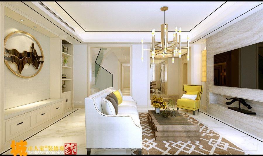 领秀公馆280平三层别墅小美风格b户型装修效果图