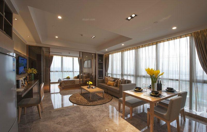 亿城堂庭现代一居室