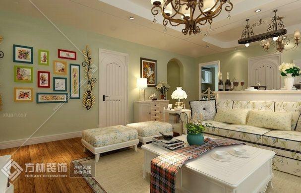 三居室美式风格客厅