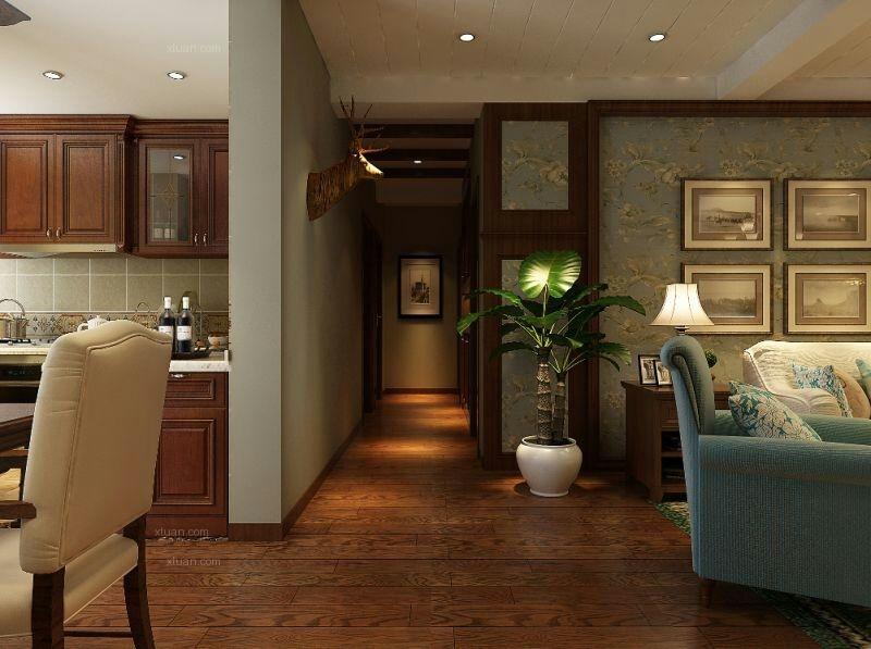 三室两厅美式风格客厅
