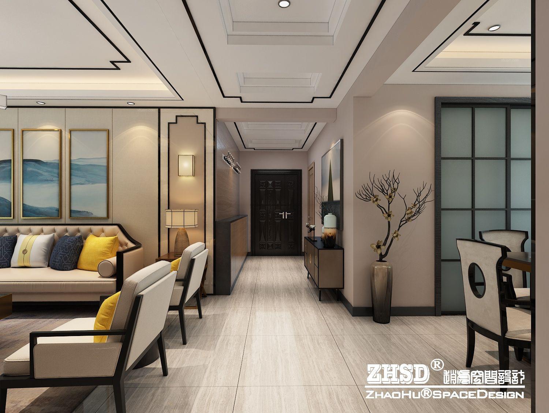 新中式家装设计方案装修效果图