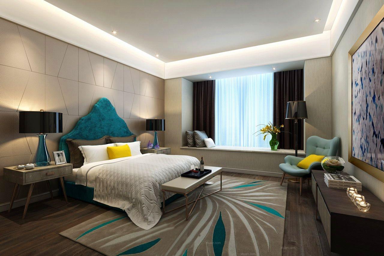 两室两厅现代风格卧室