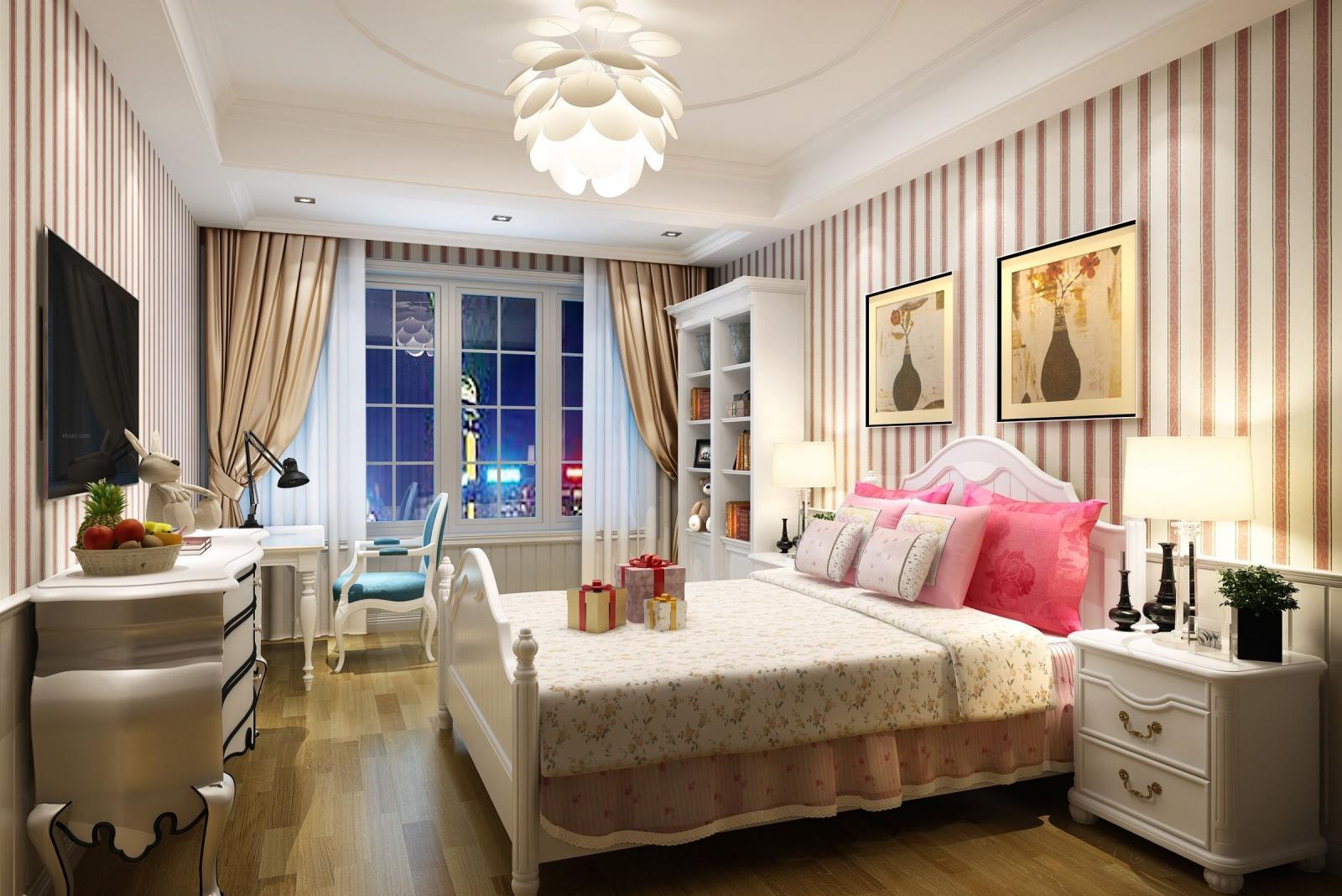 四居室古典风格主卧室