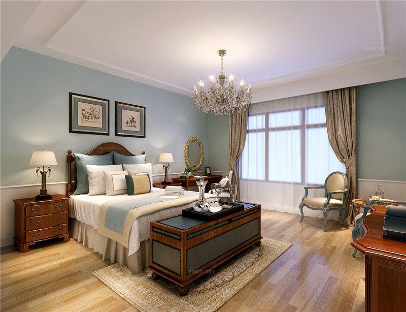 复式楼美式风格卧室