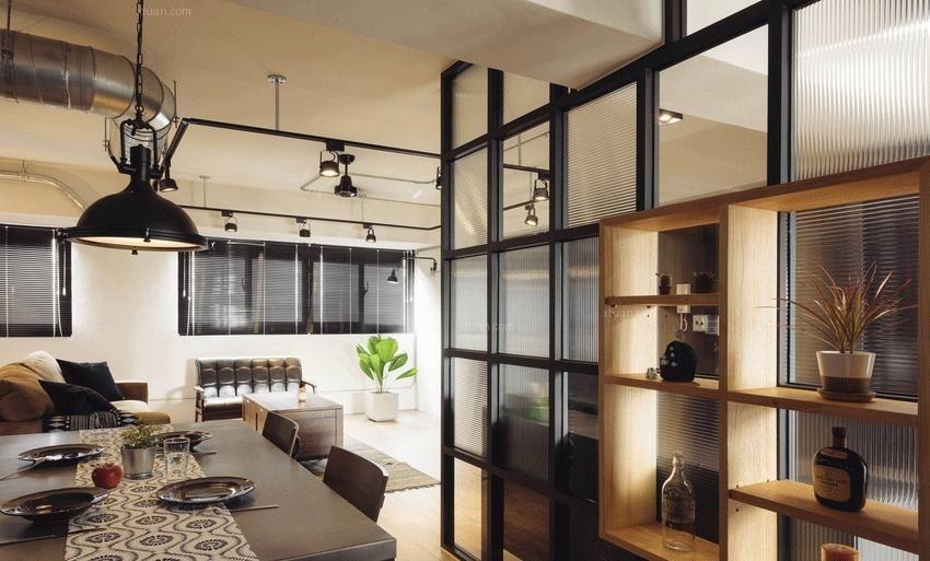 两居室混搭风格餐厅软装