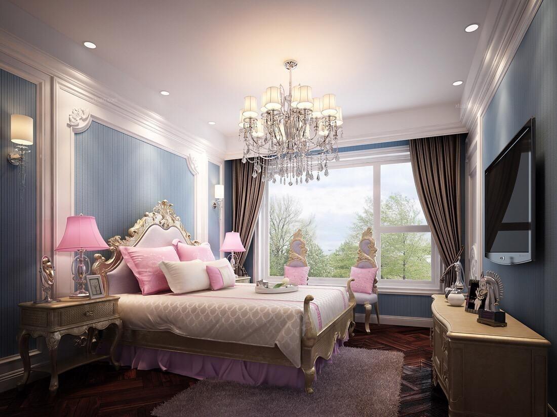 四居室美式风格主卧室