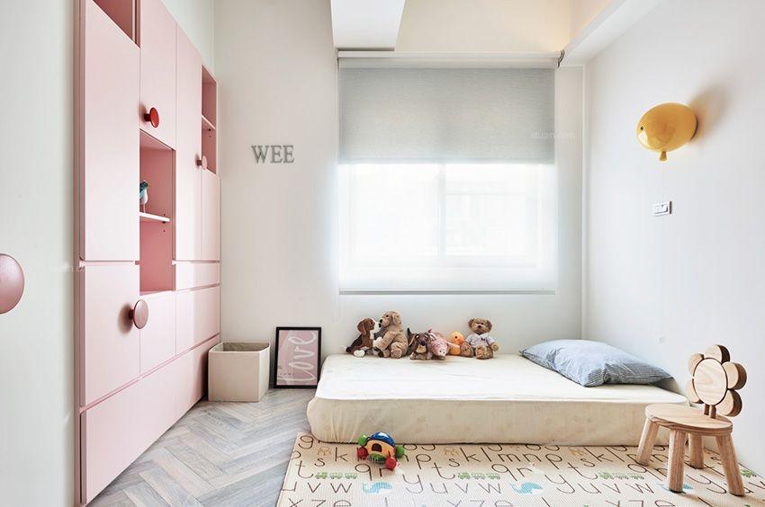 三居室混搭风格儿童房卧室背景墙