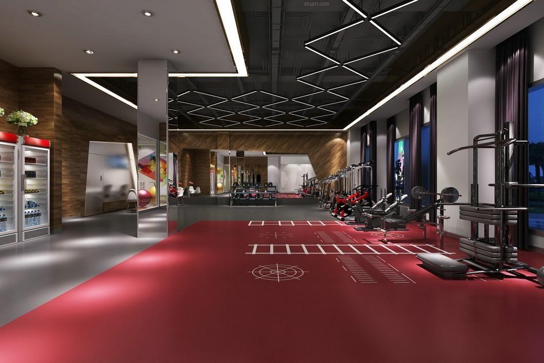 苏州健身房丨健身会所设计丨推荐苏州百饰达设计装修效果图