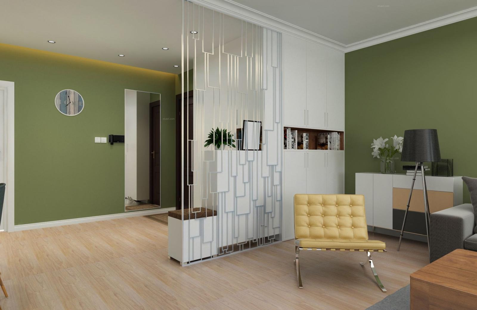 三居室现代简约玄关软装